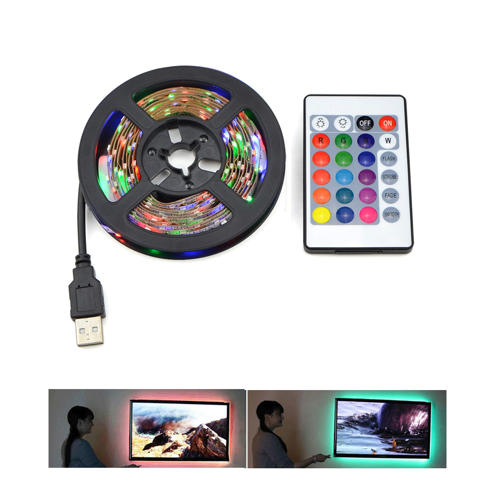 ip20 3528 5050 smd rgb usb led strip light dc 5v 50cm 1m 2m decor rgb lamp tape ribbon for. Black Bedroom Furniture Sets. Home Design Ideas