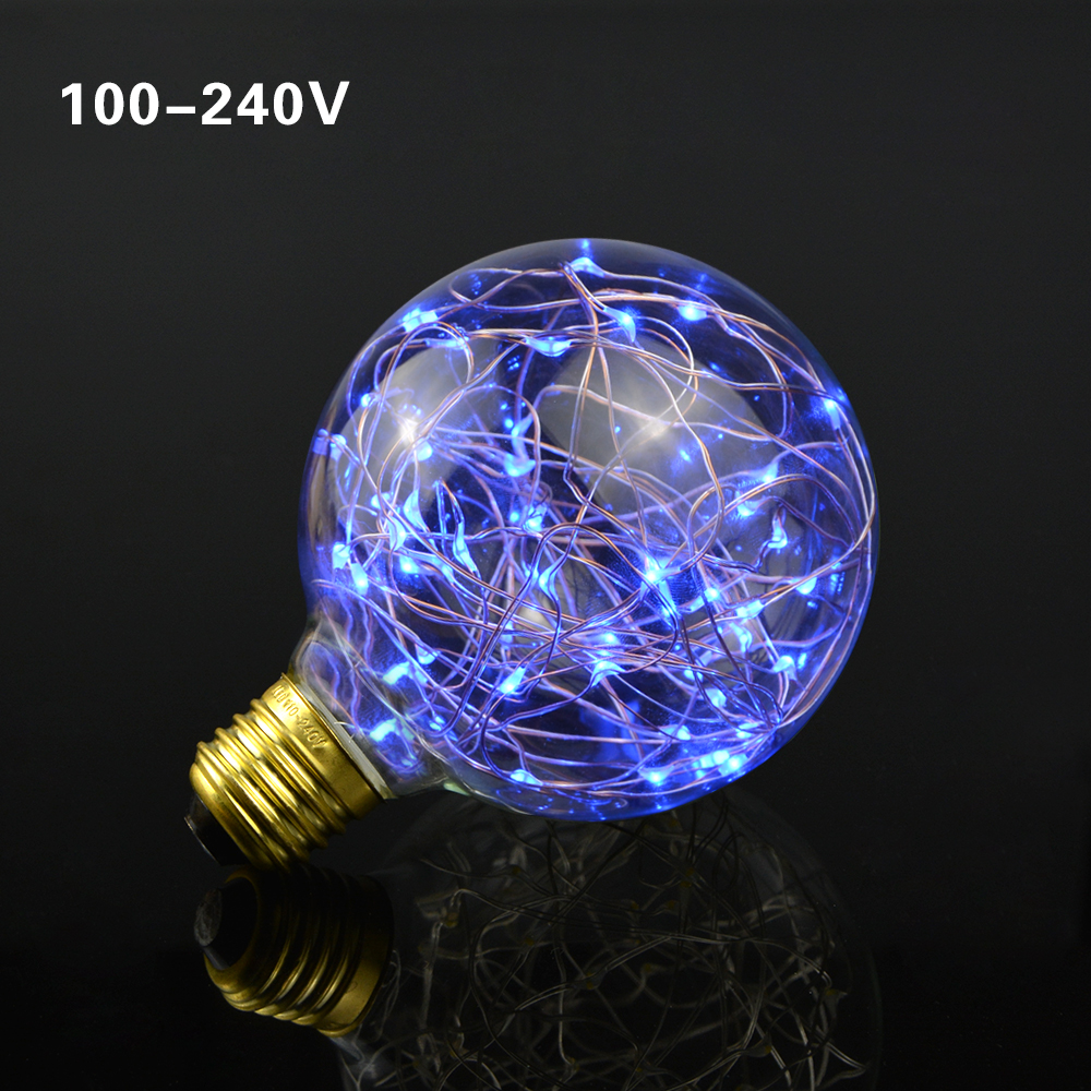 rgb led night light filament lamp retro edison fairy led light string bulb g95 e27 110v 220v for. Black Bedroom Furniture Sets. Home Design Ideas