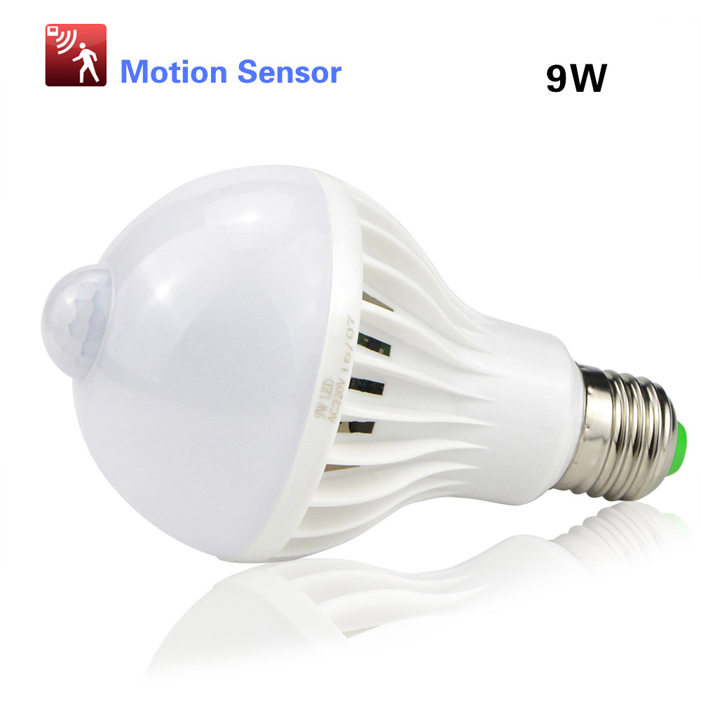 white night light e27 220v sensor led lamp bulb pir infrared motion sound light sensor. Black Bedroom Furniture Sets. Home Design Ideas